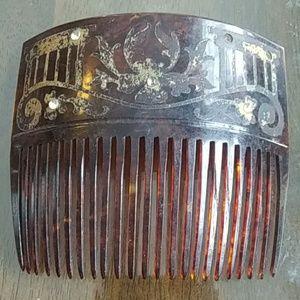 Antique Hair Comb very unique gold design